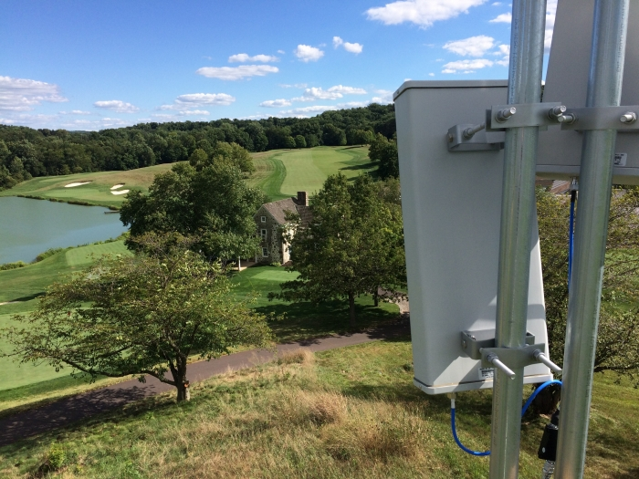 Service antennas of the O-DAS which provided satisfactory coverage for the Pro Golf event.