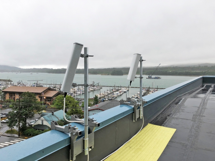 JDTECK completes another custom fabrication of donor antenna brackets built to withstand winds of 125 MPH while avoiding contact with the newly resurfaced roof. This is for a Digital DAS deployed at a #hospital in Ketchikan Alaska. Resident doctors and staff are now able to receive good voice & high-speed data reception, allowing them to provide a higher level of patient care.