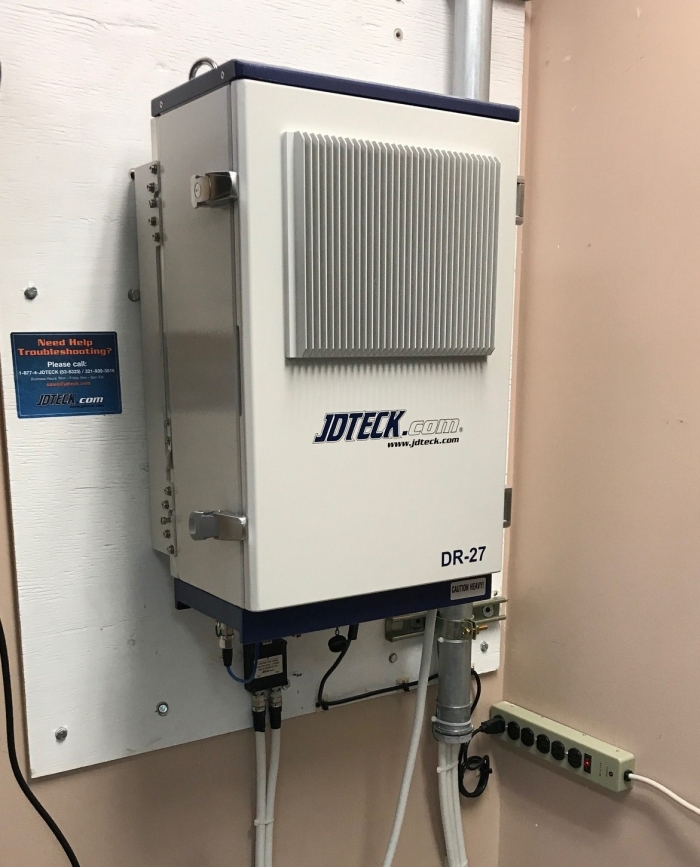 JDTECK's Digital Repeater allows the user to remotely access the repeater to make any future optimization adjustments. Even if AC power is lost, the on-board management can send notifications for up to 15 mins after.