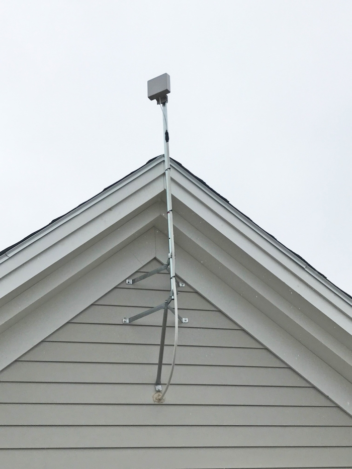 Very discreet panel antenna used at new insurance facility with Digital DAS.