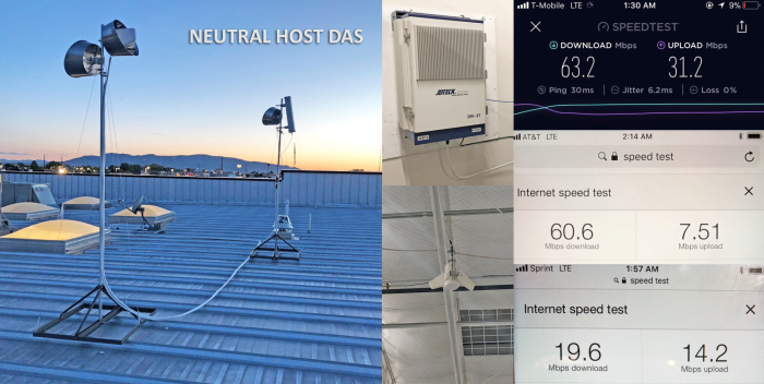 Neutral host DAS deployed at big box store. Both customers and team members very pleased with results.