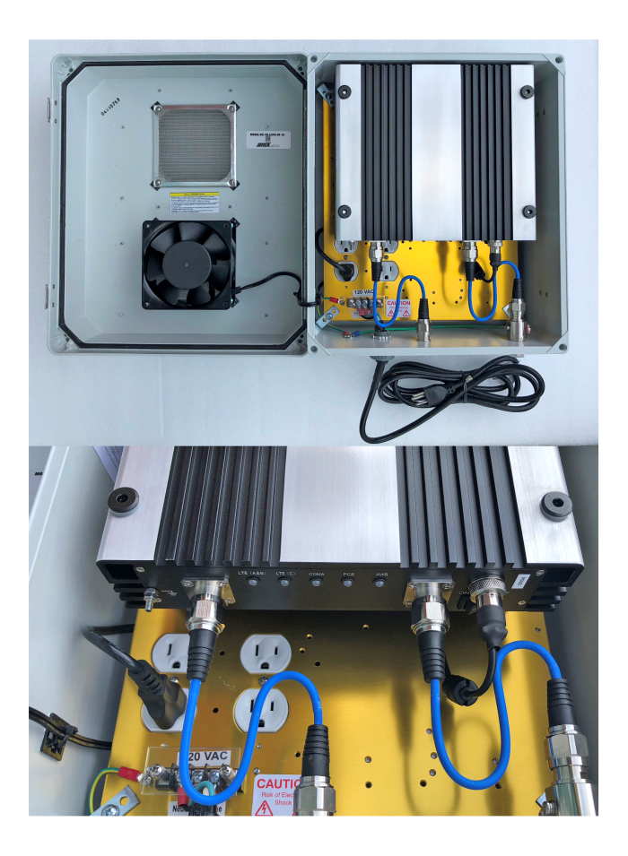 Quad Band pre-amp custom fabricated into IP24 enclosure for use with Digital Repeater to provide cellular coverage at remote drilling rig location where donor signal is extremely weak. Just some of the custom builds we do at JDTECK.
